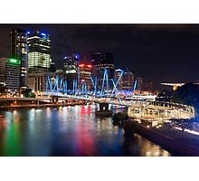 Kurilpa Bridge at Night Photographic Print
