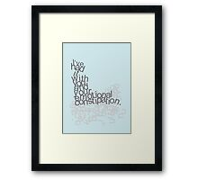 emotional constipation Framed Print