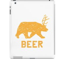 Bear + Deer = Beer iPad Case/Skin