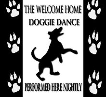 THE WELCOME HOME DOGGIE DANCE THROW PILLOW & TOTE BAG by ╰⊰✿ℒᵒᶹᵉ Bonita✿⊱╮ Lalonde✿⊱╮