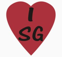 I Love Singapore - Country Code SG - T-Shirt & Sticker by deanworld