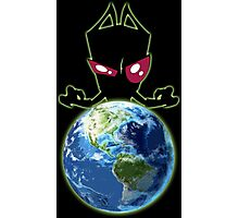 Invader from Planet Irk Photographic Print