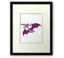 Flying Purple Dino Framed Print