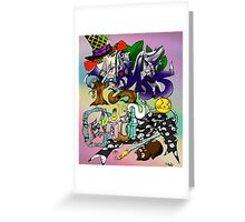Hatter's World: Madness is Genius  Greeting Card