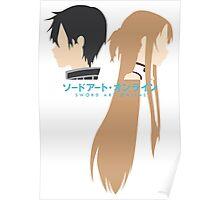 Minimalistic Kirito/Asuna (Sword Art Online) Poster