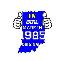 This Indiana Girl Made in 1985 Photographic Print