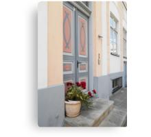 Geraniums by the Door Canvas Print