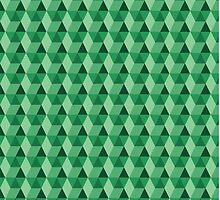 Green Boxes ~Geometric Pattern~ by Stacey Muir