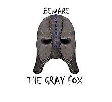 Beware the Gray Fox Photographic Print