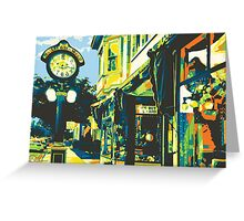 Armbruster Clock & Storefront - Cedarburg WI (bold) - Card Only Greeting Card