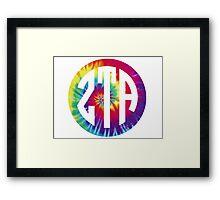 zeta tau alpha print tie dye Framed Print