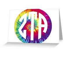 zeta tau alpha print tie dye Greeting Card