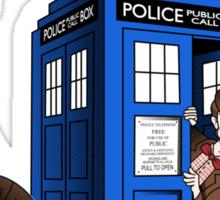 Superman's TARDIS (Iphonecase) Sticker
