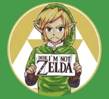 Dude, I'm Not ZELDA! T-shirt by scheme710