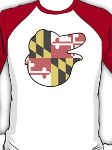 Baltimore Logo with Maryland Flag T-Shirt