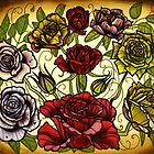 roses, rose tattoo flash sheet by resonanteye
