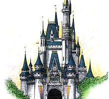 Walt Disney World Cinderella Castle by SteelCityArtist