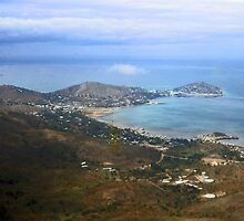 aerial of Port Moresby, Papua-New Guinea 1967 by Margaret  Hyde