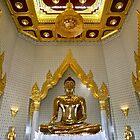 """Golden Buddha"" Wat Traimit Temple, Bangkok, Thailand by AlexandraZloto"