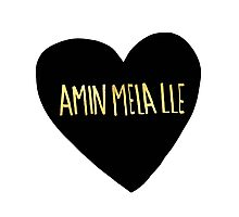"Amin Mela Lle: ""I Love You"" in Elvish Photographic Print"