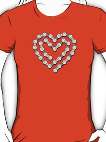 Bicycle Chain Heart T-Shirt