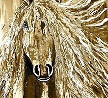 Wild Horse Abstract by Saundra Myles