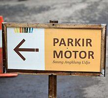 saung angklung udjo parking sign by bayu harsa