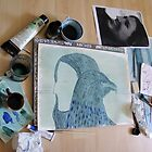 Totemic Animal - SoJie 12 Workshop - WIP 5 (b) by Ina Mar