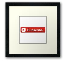 Subscribe Button Framed Print