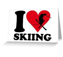 I love skiing Greeting Card