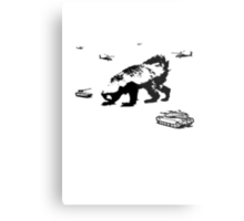 Honey Badger Zilla Metal Print