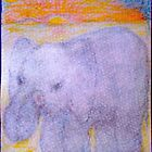 Elephant Birthday Card by MardiGCalero