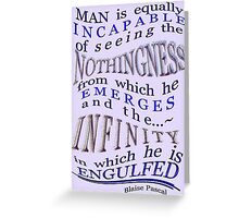 NOTHINGNESS and ~INFINITY~ Greeting Card
