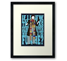 Quotable Who - Fourth Doctor Framed Print