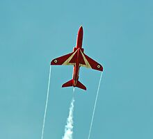 Red Arrow going vertical by Stephen Kane