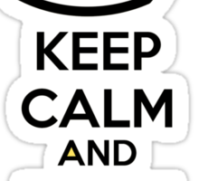 Keep calm and duck and cover Sticker