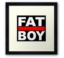 FAT BOY with a black background Framed Print