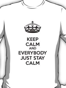 Keep calm and everybody just stay calm T-Shirt