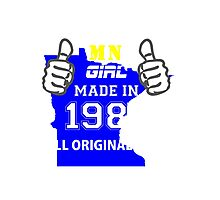 This Minnesota Girl Made in 1985 Photographic Print
