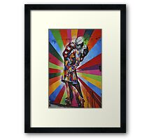 Famous Kiss Framed Print
