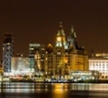 Liverpool at Night Panorama by Jack Steel