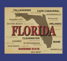 Florida State Pride Map Silhouette  T-Shirt