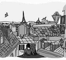 Paris, black and white by ulyanaandreeva