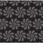 The Dark Abstract Flower Pattern by famenxt