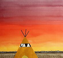 Tepee or Not Tepee original painting by CrowRisingMedia