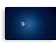 Blue Sky Moon Canvas Print