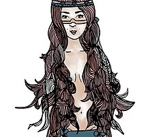 Princess with long hair by Veronique  Hamel