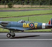 Supermarine Spitfire IIa P7350/BA-Ybar by Colin Smedley