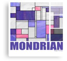 Mondrian Pink Purple White  Canvas Print