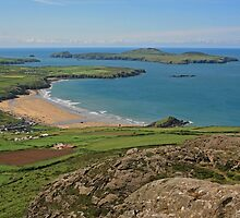 Whitesands Bay and Ramsey Island by RedHillDigital